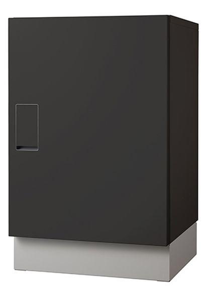 【メーカー在庫あり】 450x400x700mm 宅配ボックス(ブラック 000012293869 HD店