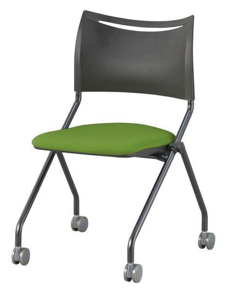 【メーカー在庫あり】 折畳み椅子(グリーン/ブラック) 000012297418 HD店