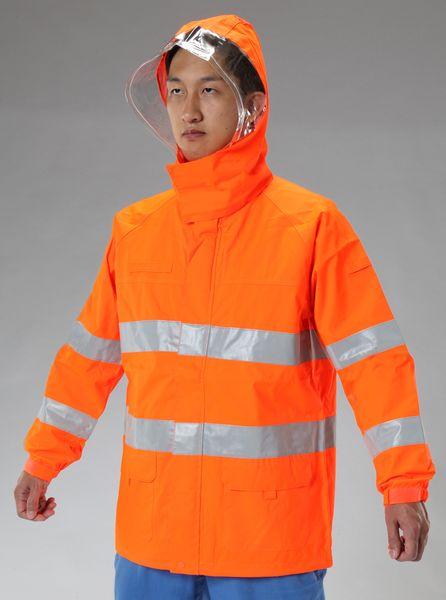 【メーカー在庫あり】 [3L] 高視認性レインジャケット(オレンジ) 000012297787 HD店