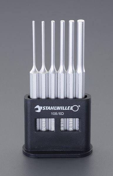 【メーカー在庫あり】 2.5-8.0mm/6本組 平行ピンポンチ EA572S-1 HD店