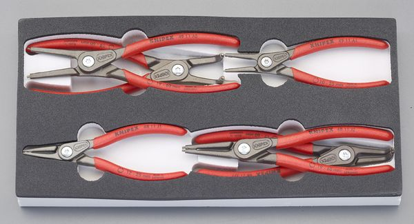 【メーカー在庫あり】 6本組 スナップリングプライヤー(軸・穴用) EA590-19 HD店