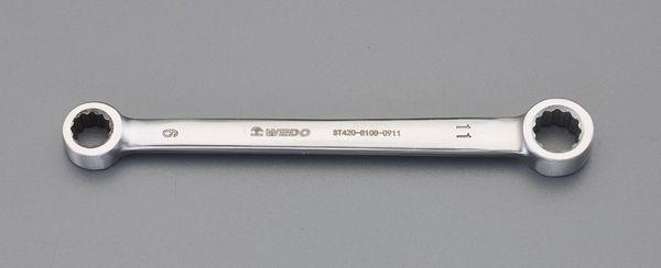 【メーカー在庫あり】 27x30mm 両口メガネレンチ(ステンレス製) EA616BS-10 HD店