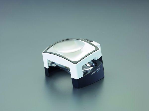 【メーカー在庫あり】 x3.0/75x100mm 置き型ルーペ(LEDライ EA756BR-5 HD店