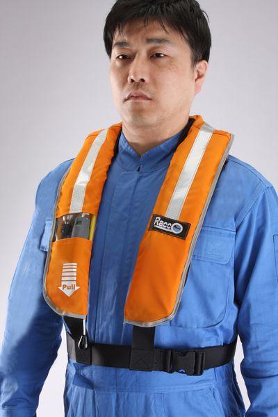 【メーカー在庫あり】 自動拡張ライフベスト(救命衣) EA915DE-1 HD店