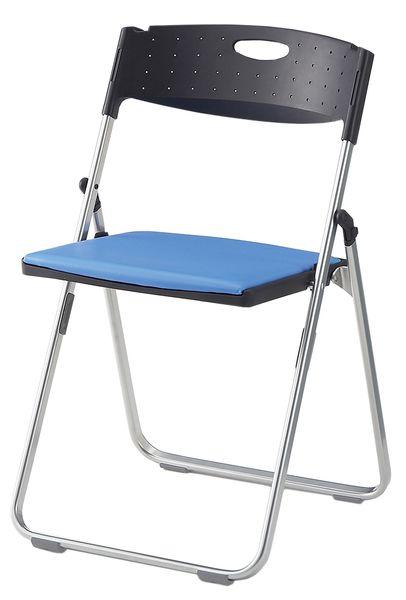 【メーカー在庫あり】 折畳み椅子(ブラック/ブルー) EA956XE-46 HD店