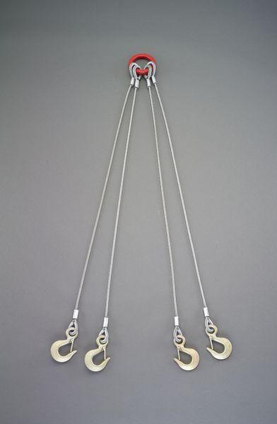 【メーカー在庫あり】 0.84tonx1.0m ワイヤースリング(4本懸 EA981WT-11 HD店