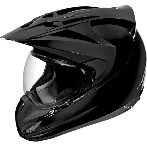 【USA在庫あり】 アイコン ICON フルフェイスヘルメット Variant Gloss Solid 黒 Lサイズ (59cm-60cm) 0101-4749 HD店
