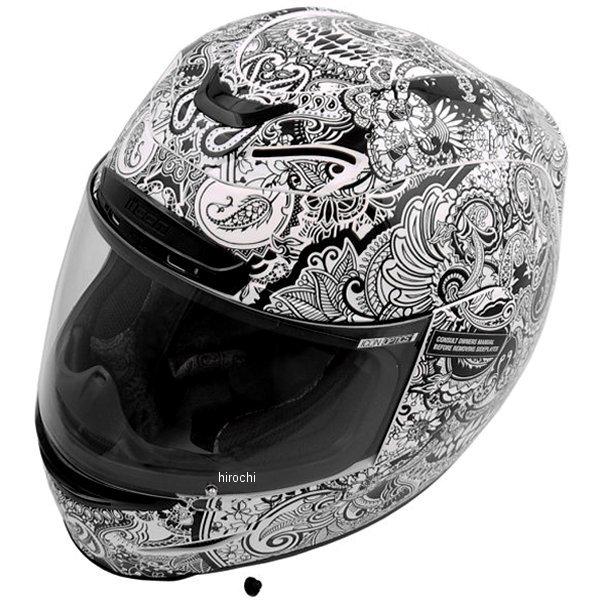 【USA在庫あり】 アイコン ICON フルフェイスヘルメット Airmada Chantilly 白 Lサイズ (59cm-60cm) 0101-7077 HD店