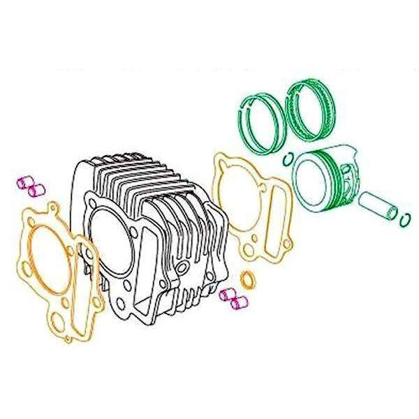 SP武川 Rステージ EM 88cc リペアパーツ Hシリンダーキット アルミ製鉄スリーブ モンキー ゴリラ 01-04-7088H HD店