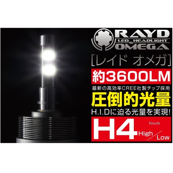 RAYD LEDヘッドライトキット 自動車用 オメガ H4バルブ 969925 HD店