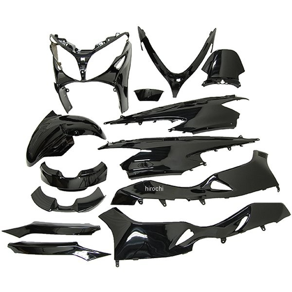 【メーカー在庫あり】 NBS バイクパーツセンター 外装13点セット スカイウェイブ250 (CJ44A、CJ45A、CJ46A) 黒 3066 HD店