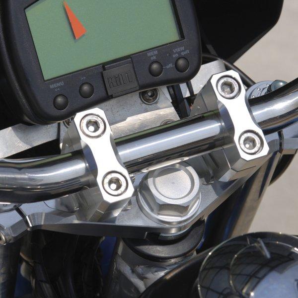 シフトアップ ビレットトップブリッジ/クランプセット シルバー XR50/100 201080-03 HD店