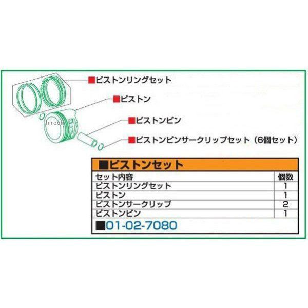 SP武川 RステージEM Rステージ+D 88cc リペアパーツ ピストンキット モンキー ゴリラ 01-02-7080 HD店