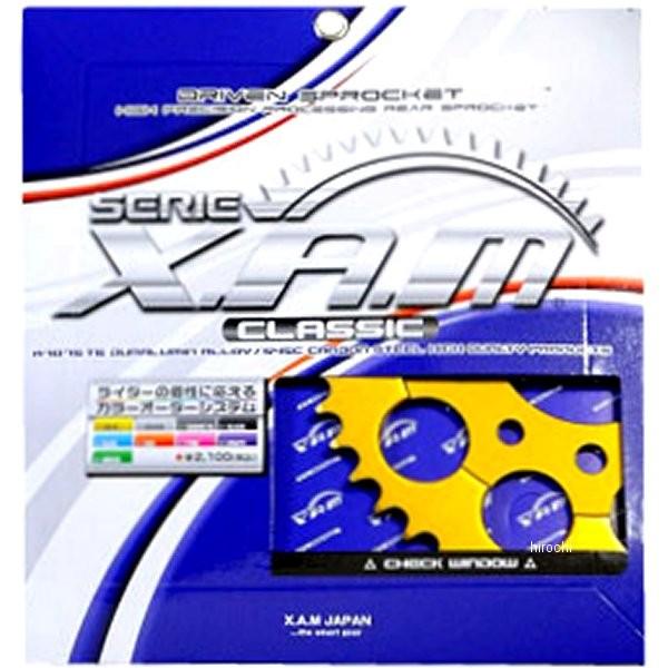 ザム XAM リア スプロケット クラシック 532/47T 88年-89年 ZX-10 アルミ ゴールド A7401-47 HD店