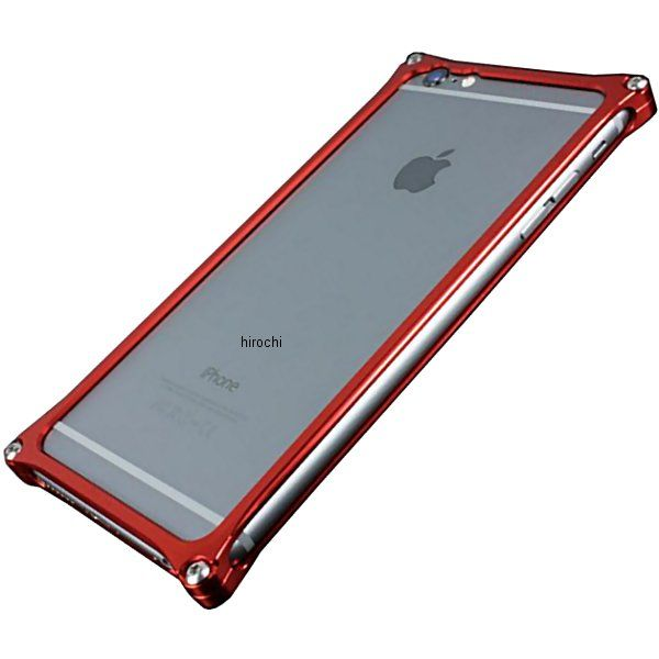 41117 ギルドデザイン ソリッドバンパー iPhone6Plus レッド GI-252R HD店
