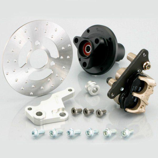 キタコ フロントディスクハブキット (8インチ2.50ホイール用) typeX ブラック ・モンキー/ゴ 500-1083430 HD店
