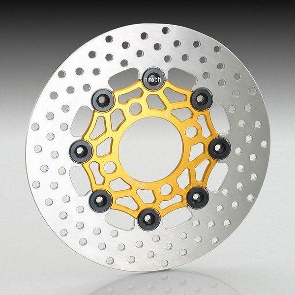 キタコ フローティングディスクローター グロム/PCX ゴールド/ブラック 500-1432730 HD店