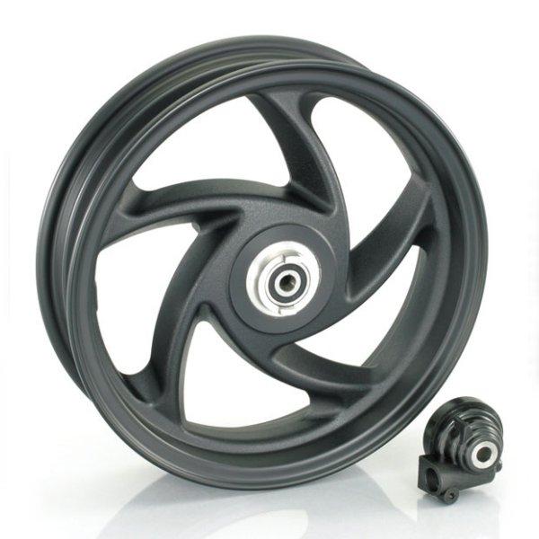 キタコ 10インチ5スポークアルミキャストホイール (フロント/ブラック) forアドレスV125/- 509-2407710 HD店