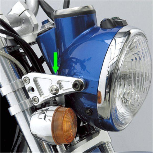 シフトアップ ビレットライトステー Φ30mm シルバー APE50/100 405130-03 HD店
