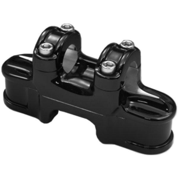 イージーライダース ハンドルバー クランプ ナローライズ 74スプリンガー専用 黒 STMC0001 HD店