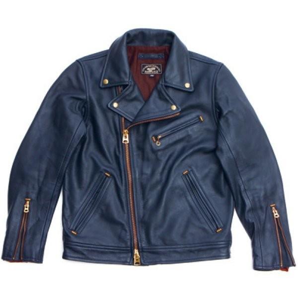 イージーライダース ダブル ライダース ジャケット Lサイズ ネイビー VAA0083L HD店