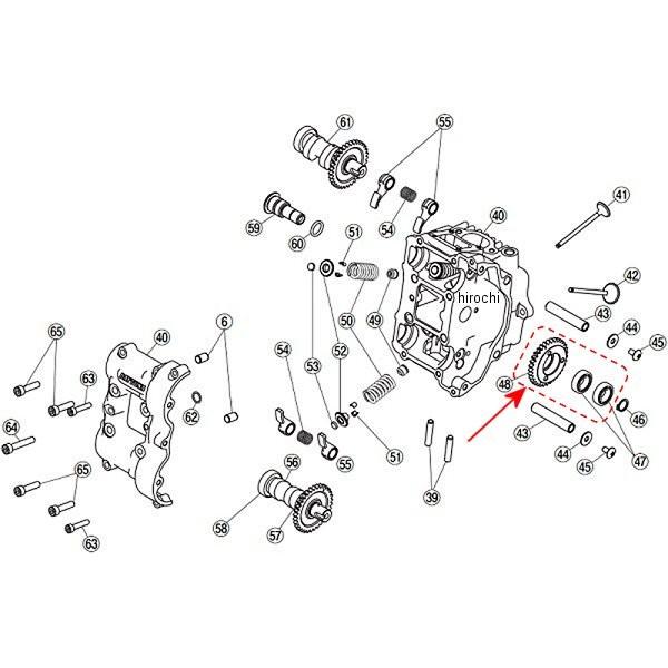 デイトナ フィンガーフォロアー DOHC 補修部品 78960 百貨店 33T カムアイドルギヤ 10%OFF HD店
