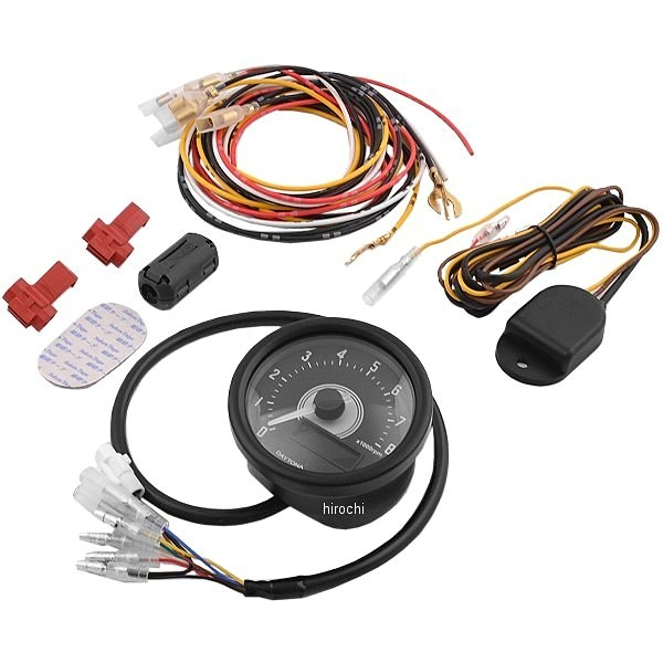 【メーカー在庫あり】 デイトナ ヴェローナ 電気式タコメーター 8000rpm 汎用 黒/白 LED 92253 HD店