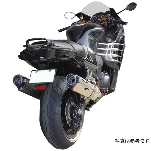 【メーカー在庫あり】 ビート BEET スリップオンマフラー ナサート エボリューション タイプ2 T2 12年-17年 Ninja ZX-14R ABS ブルーチタン 0222-KD3-BL HD店