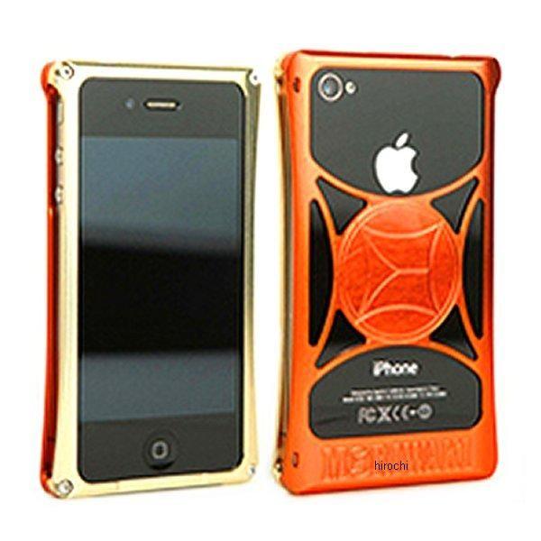 モリワキ iPhone4s、4用 ケース ゴールド/オレンジ 710-A01-0036 HD店