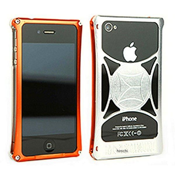 モリワキ iPhone4s、4用 ケース オレンジ/クリア 710-A01-0064 HD店