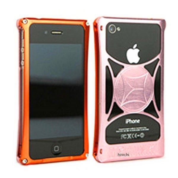 モリワキ iPhone4s、4用 ケース オレンジ/ピンク 710-A01-0065 HD店
