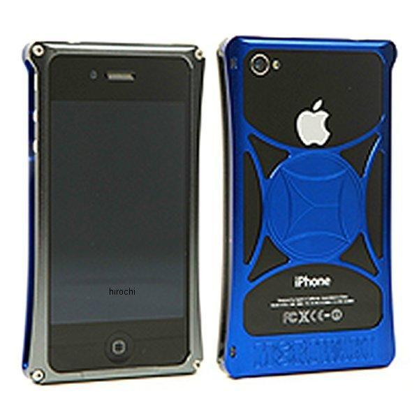 モリワキ iPhone4s、4用 ケース ガンメタル/ブルー 710-A01-0072 HD店