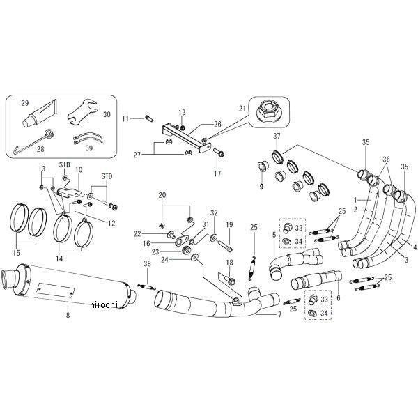 モリワキ ZERO SS WT フルエキゾースト 14年以降 CB1300SB チタン 01810-L21M1-00 HD店