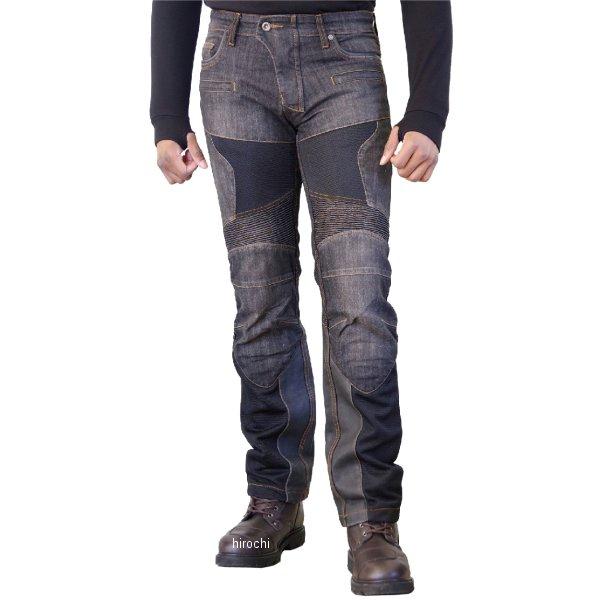 【メーカー在庫あり】 WJ-741S コミネ KOMINE 2018年春夏モデル スーパーフィットプロテクトレザーメッシュジーンズ 黒 XL/34サイズ 4573325735187 HD店