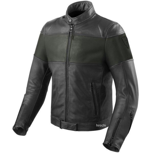 レブイット REVIT レザージャケット ノヴァビンテージ 黒/緑 M46サイズ FJL092-1800-M46 HD店