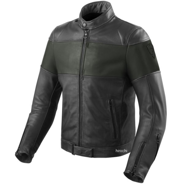 レブイット REVIT レザージャケット ノヴァビンテージ 黒/緑 M48サイズ FJL092-1800-M48 HD店