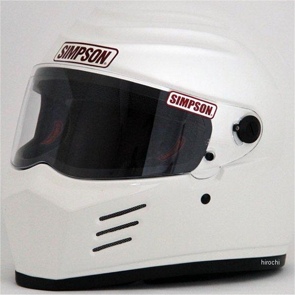 3304105700 シンプソン SIMPSON ヘルメット アウトロー 白 57cm 4562363240739 HD店