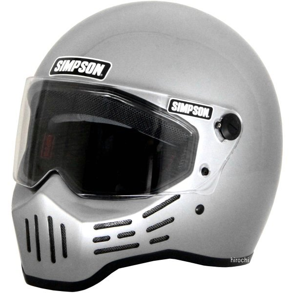 3305185700 シンプソン SIMPSON ヘルメット M30 シルバー 57cm 7-1/8 4562363241576 HD店
