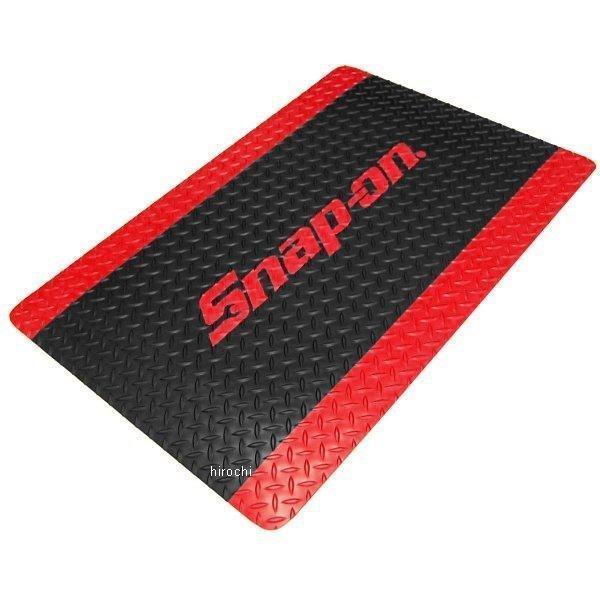 スナップオン Snap-on クッションタイプ フロアマット 24インチ x 36インチ ブラック と レッドボーダー/レッドロゴ JKAFM2436BR HD店