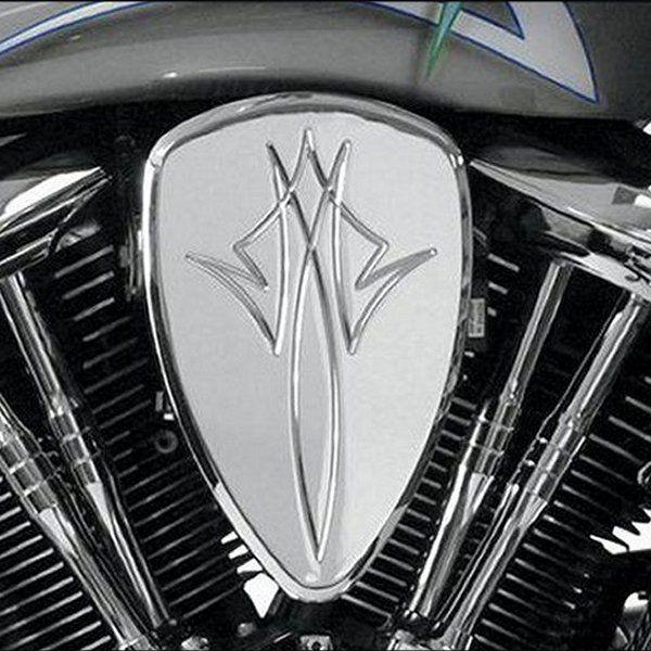 【USA在庫あり】 バロン BARON エアクリーナーキット 02年-09年 VTX1300 ピンストライプ クローム 1010-0661 HD店