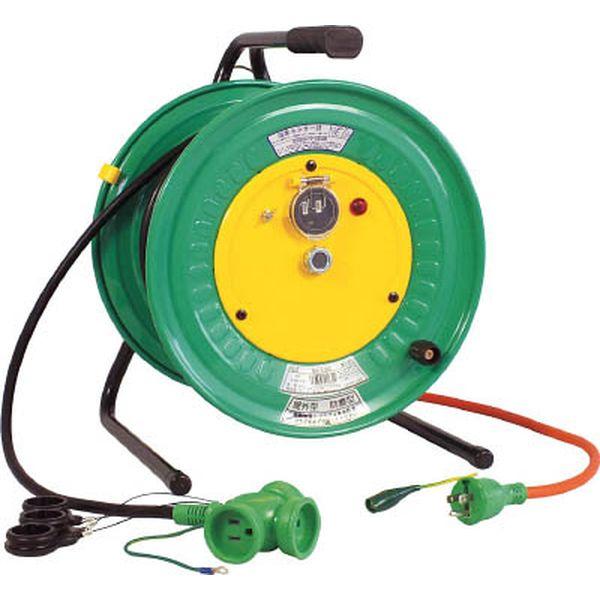 【メーカー在庫あり】 日動工業(株) 日動 電工ドラム 防雨防塵型びっくリール100V アース付 30m RBW-E30S HD