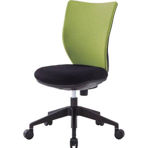 【メーカー在庫あり】 アイリスチトセ(株) アイリスチトセ 回転椅子3DA ライムグリーン 肘なし 3DA-45M0-LGN HD
