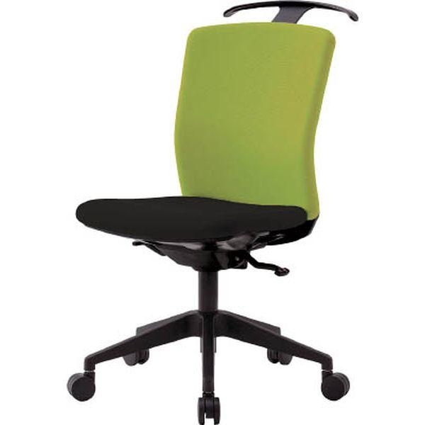 【メーカー在庫あり】 アイリスチトセ(株) アイリスチトセ ハンガー付回転椅子(シンクロロッキング) グリーン/ブラック HG-X-CKR-S46M0-F-LGY HD