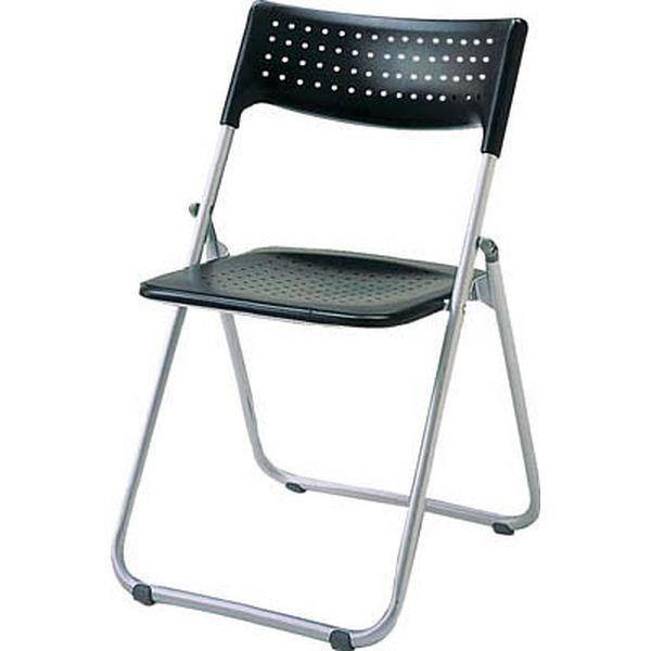 【メーカー在庫あり】 アイリスチトセ(株) アイリスチトセ アルミ折りたたみ椅子(スタッキング) アルミパイプ ブラック SS-A027-BK HD