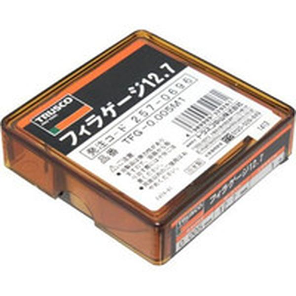 【メーカー在庫あり】 TFG0.005M1 トラスコ中山(株) TRUSCO フィラーゲージ 0.005mm厚 12.7mmX1m ステンレス製 TFG-0.005M1 HD