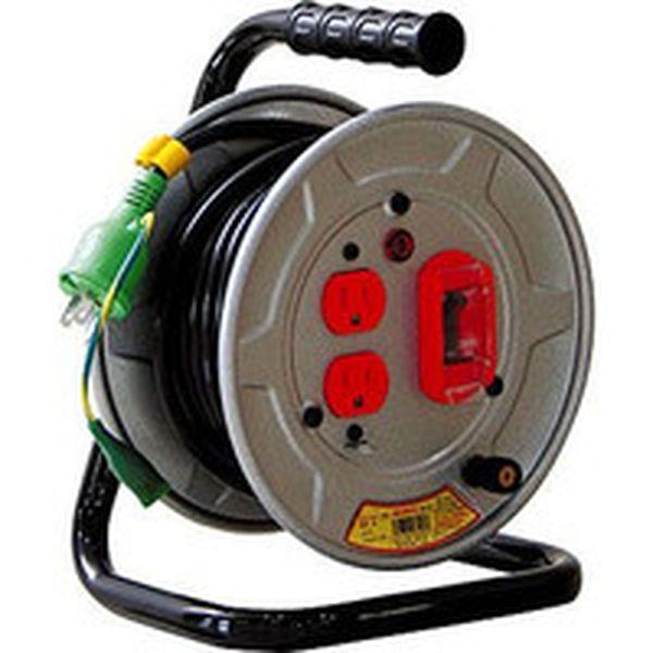 【メーカー在庫あり】 日動工業(株) 日動 電工ドラム 標準型100Vドラム アース過負荷漏電しゃ断器付 10m NS-EK12 HD