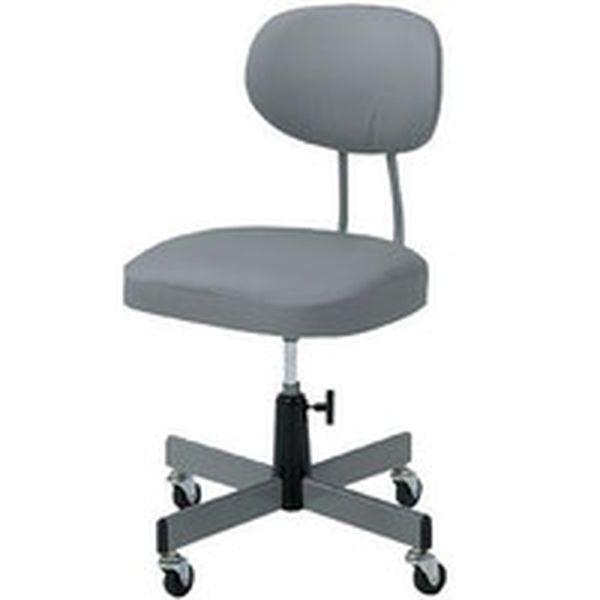 【メーカー在庫あり】 トラスコ中山(株) TRUSCO 事務椅子 ビニールレザー張り グレー T-80 HD