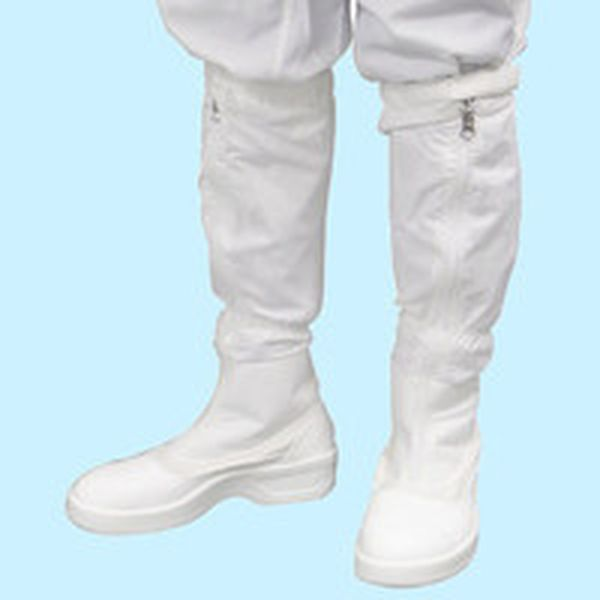 【メーカー在庫あり】 PA9850W24.5 (株)ゴールドウイン ゴールドウイン 静電安全靴ファスナー付ロングブーツ ホワイト 24.5cm PA9850-W-24.5 HD