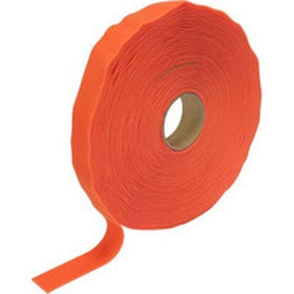 【メーカー在庫あり】 トラスコ中山(株) TRUSCO マジック結束テープ 両面 オレンジ 40mm×25m MKT-40250-OR HD