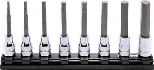 【メーカー在庫あり】 (株)山下工業研究所 コーケン 9.5mm差込 Z-EALヘックスビットソケットレールセット8ヶ組 RS3010MZ/8-L75 HD